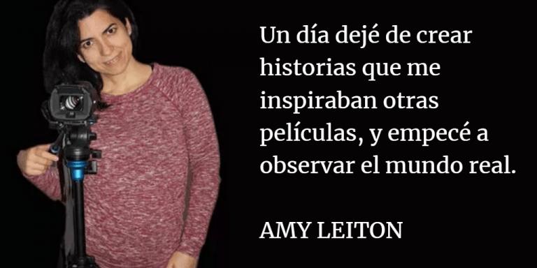 Amy Leiton observar el mundo real